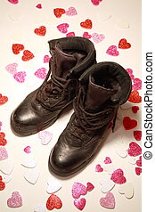 Maintainers need love too - Military boots shot over hearts...