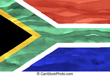 Painted flag of South Africa