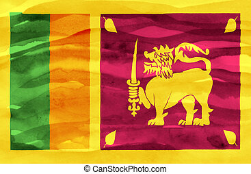 Painted flag of Sri Lanka