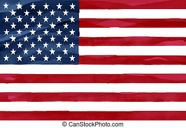 Painted flag of United States of America