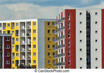 Colorful flat of blocks - Real estate, demographic...