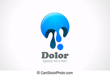 Paint blob abstract logo template Creative fun concept icon...