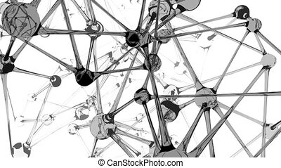 Neuron-like structure animated - Background animation of a...