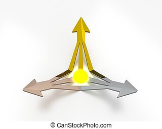 3D Arrows - Energy - Gold / Silver / Bronze