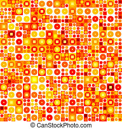 Seamless abstract pattern, warm shades