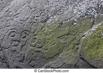 Petroglyph Carvings in Alaska - Petroglyph carvings by...