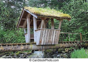 Troll Bridge in Alaska Park - The Troll Bridge at Sandy...