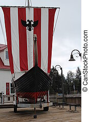Viking Ship at Petersburg Alaska - Replica Viking ship at...