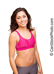 Attractive fitness woman posing