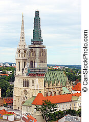 Cathedral in Zagreb, Croatia - Cathedral of Assumption of...