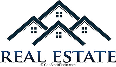 Casas, apartamentos, vector, logotipo, desig