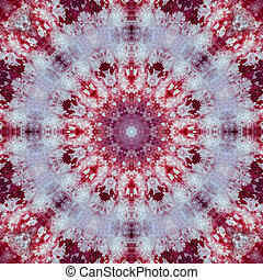 Batik Tie Dye - Tie Dye pattern in red, white, and blue