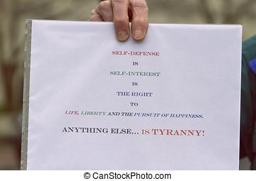 Gun Control Protest Sign - Anti gun control sign about...