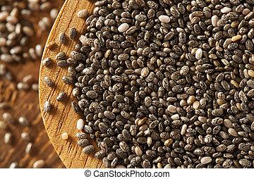 orgânica, secos, Chia, Sementes