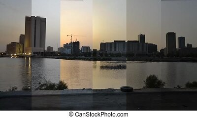 time lapse jeddah downtown at all times