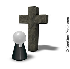 pastor and christian cross - simple pastor figure and...