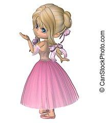 Toon Ballerina in Pink Romantic Sty - Cute toon ballerina...