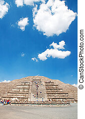 Teotihuacan, Mexico - Archeologycal ruine in Teotihuacan,...