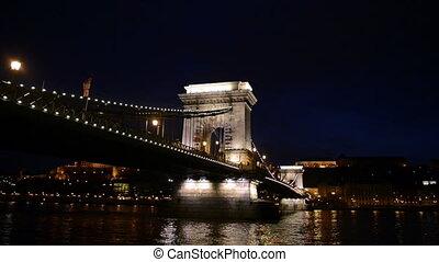 Chain bridge above the Danube in Hu