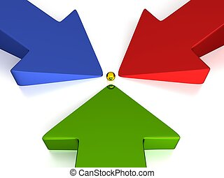3D Arrows - 3 Colors - Production - Green Red Blue