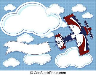 airplane cartoon background