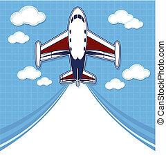 samolot, rysunek, Prywatny