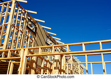 New Home under Construction - New residential construction...