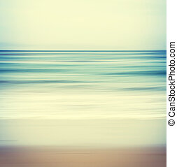 Cross-processed Seascape - An abstract ocean seascape with...