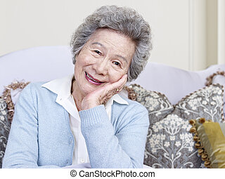 senior woman - portrait of an asian senior woman.
