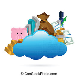 cloud computing and business concept