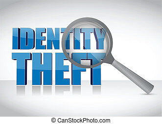 Identity theft under investigation over a white background