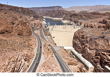 Hoover Dam Nevada. - Hoover Dam electrical power pland and...