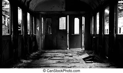 Abandoned carriage interior