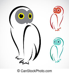 Vector image of an owl on a white background