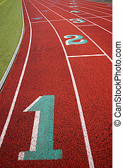 Stadium Running Track Lane Markers Sports Field Number...