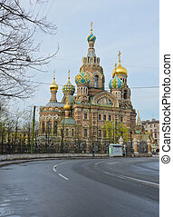 Church of the Savior on Spilled Blood in St.Petersburg,...