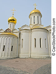 Trinity Cathedral in Trinity Lavra of St. Sergius monastery,...