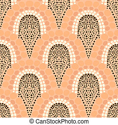 Geometric pattern in art deco style in soft colors - Bold...