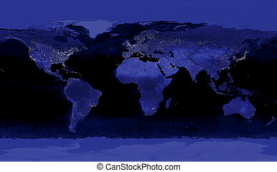 Earth's City Lights - This image of Earth's city lights was...