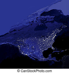 United States City Lights - This image of Earth's city...