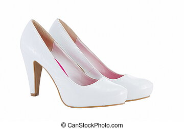 image of female heels on a white background