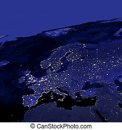 Europe City Lights - This image of Earth's city lights was...