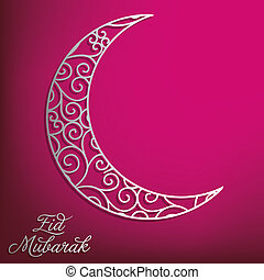 Eid Mubarak Blessed Eid card in vector format