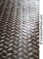 Diamond Plate - Closeup of real diamond plate material -...