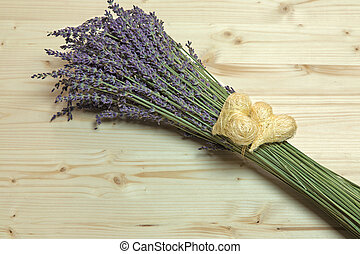 A thought for a special occasion, bunch of lavender and...