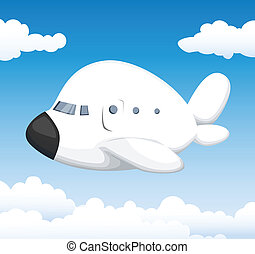 Cute cartoon airplane
