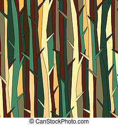 Trees pattern, background color variation