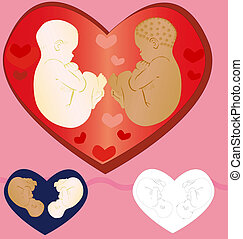 Babies - Two babies surrounded with love of all relatives...