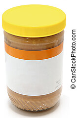 Jar of Crunchy Peanut Butter - Crunchy peanut butter jar...