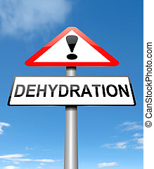 Dehydration concept. - Illustration depicting a sign with a...